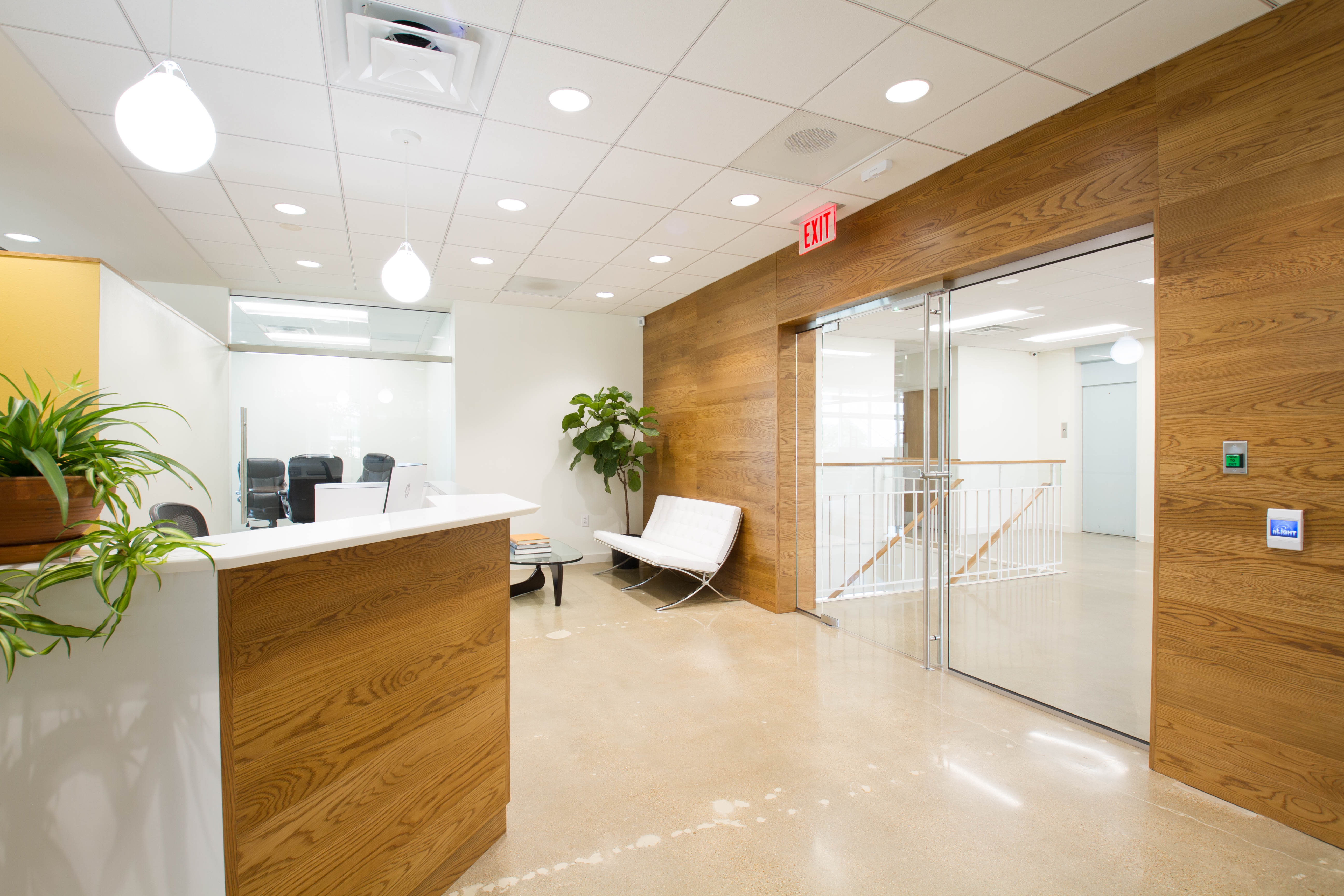 modern, sophisticated Burgher Haggard office lobby